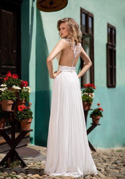 rochie de mireasa fluida