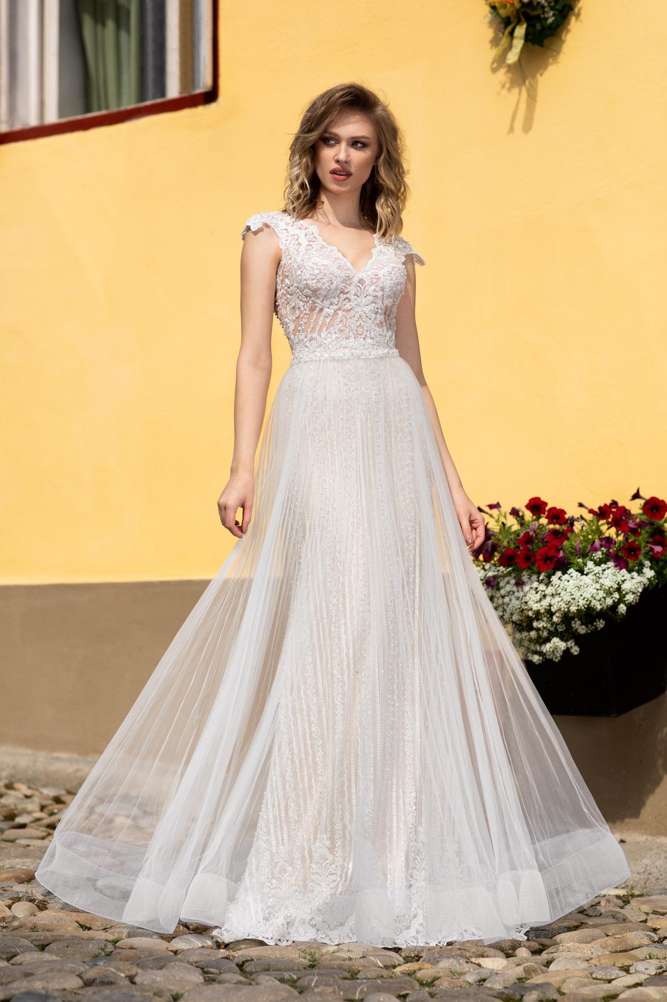 rochie de mireasa stil sirena