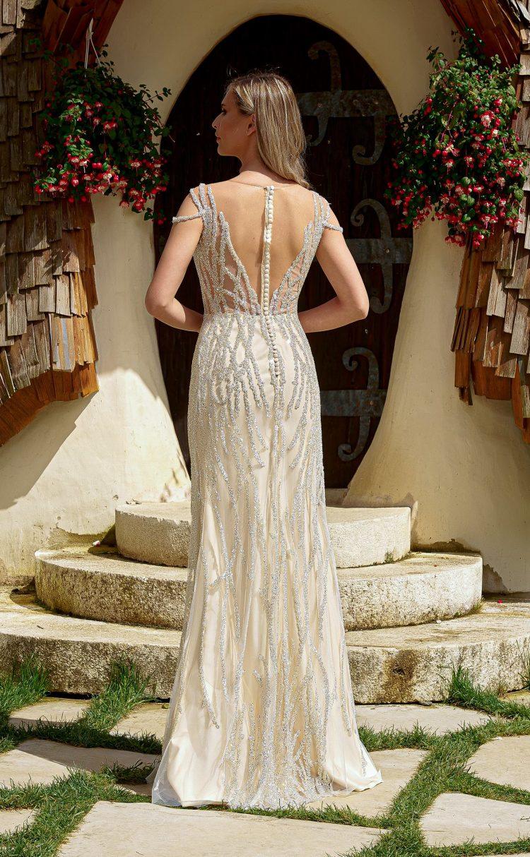 rochie de mireasa 2 in 1 din dantela