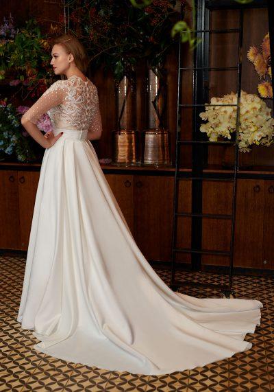 rochie mireaasa cu trena detasabila