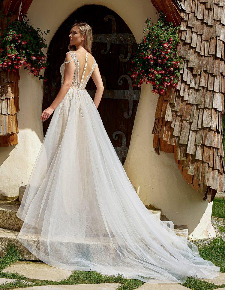 rochie de mireasa sirena cu trena Bucuresti