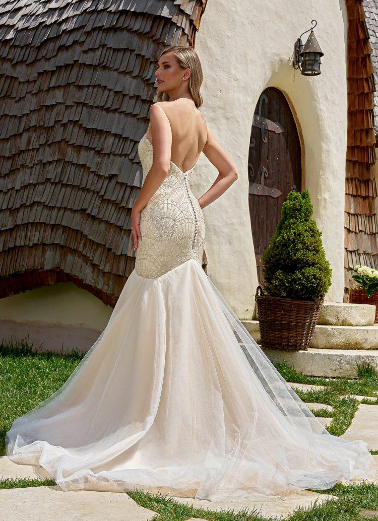 rochie de mireasa stil sirena bucuresti