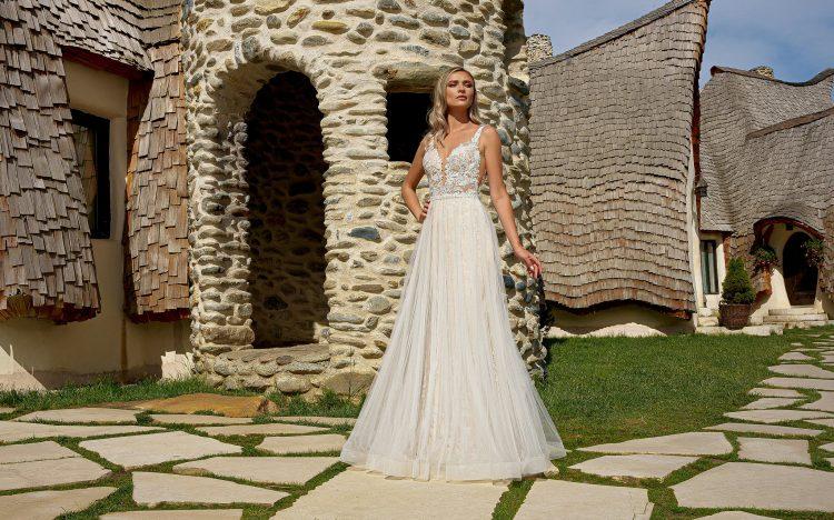 rochii de mireasa stil sirena ieftine